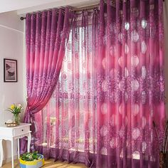 Purple Bedroom Curtains Glamorous Purple Lace Curtains  Purple Lace Curtain Finished Product Design Ideas