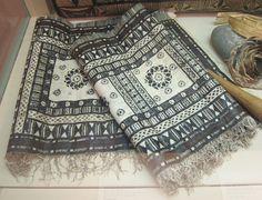 Masi (bark cloth), Fiji, Island of Oneata Lau, century, Honolulu Academy of Arts.