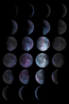 Phases of the moon for more like this follow: http://pinterest.com/jlaurennnnnn
