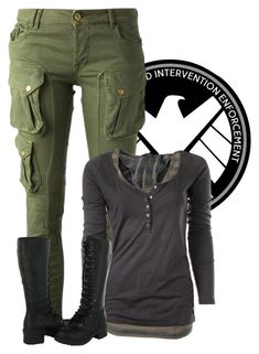 """""""Me As: Agent of Shield"""" by samanthahac ❤ liked on Polyvore featuring CYCLE and Maison Scotch"""