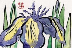 Etegami: In the form of greeting in Japan,to send people to write their own picture and seasonal greeting.