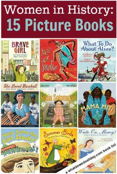 women in history, kids books. Elementary School Library. This is a great list of books! Many are going on my wishlist!
