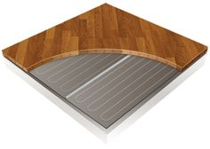 Laminate and wood floor heating image