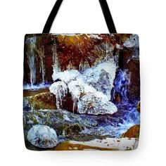 Water Ice Winter Tote Bag featuring the photograph Water And Ice by Len-Stanley Yesh