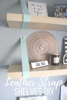 DIY Shelf With Leath
