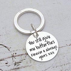 Handmade Silver Personalised Message Keyring
