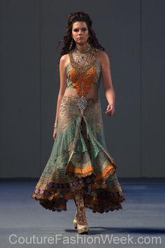 Charisma by Ritu Boorgu Couture Fashion Week... Love the top,