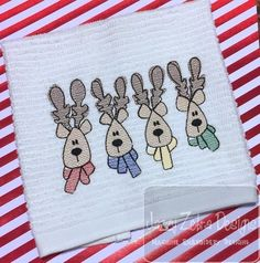 Christmas Reindeer Sketch machine Embroidery Design - instant download design Embroidery Applique, Machine Embroidery Designs, Sketch Design, Christmas Shirts, Reindeer, Monogram, Handmade Gifts, Etsy, Kid Craft Gifts