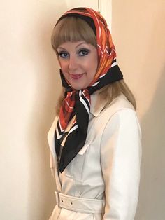 Blouse And Skirt, Tie Blouse, Head Scarf Tying, Lace Veils, Rain Wear, Classy Women, Silk Scarves, Womens Scarves, Classic Style