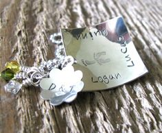 Personalized Name Necklace- Hand Stamped Sterling Silver- Threes Company, Family Necklace | 2 Sisters Handcrafted
