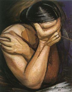 """Angústia"", Anguish, by David Alfaro Siqueiros Mexican Diego Rivera, Mexican Artists, Mexican Folk Art, Art And Illustration, Arte Latina, Latino Art, Portraits, Wow Art, Fine Art"