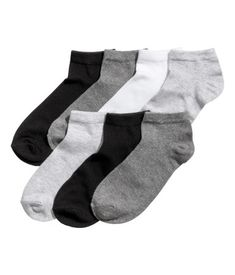 7-pack Ankle Socks | Gray melange | KIDS | H&M US