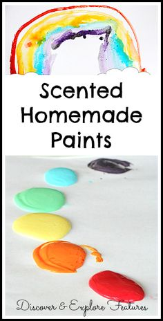 5 Ways to Explore the Sense of Smell with Homemade Paints - Buggy and Buddy