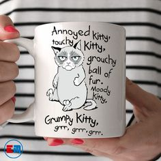Cat Mug - Grumpy Kitty $19.95
