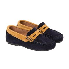 a3b0e6a6213 Boys  Suede Velcro Moccasins in Brown