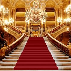The Kingdom of Gold Luxury Staircase, Grand Staircase, Bedroom Designs Images, Living Room Designs, Castle Backdrop, Casa Anime, Anime Places, Fantasy Rooms, Episode Backgrounds
