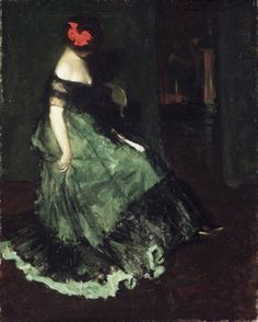 The Red Bow by Charles Webster Hawthorne  #art #history #Charles Webster Hawthorne