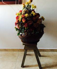 Jarrón de flores.