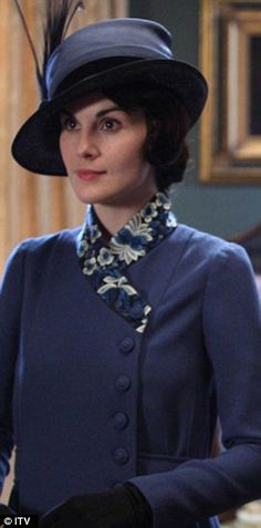 #wardrobechallenge I absolutely love the elegance of this suit with the floral trim. Downton Abbey