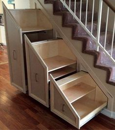5 Creative Ways to Maximize Small Spaces - Home Im. - 5 Creative Ways to Maximize Small Spaces - Home Im. Space Under Stairs, Under Stairs Cupboard, Stairs In Small Spaces, Under Stairs Drawers, Shoe Rack Under Stairs, Small Space Staircase, Tiny Spaces, Staircase Storage, Staircase Design