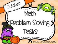 This includes 21 problem solving tasks with a HALLOWEEN theme. These can be used for anything you wish: morning work, seat work, warm up work, math centers, homework, etc. Second grade skills included: 2.OA.1, 2.OA.3,  2.OA.4, 2.NBT.1, 2.NBT.2, 2.NBT.3, 2.NBT.4, 2.NBT.5Some Multiple-step problems (two steps)Adding Tens, Ones, Tens and Ones10 More or 10 LessEven and OddComparing NumbersRepeated AdditionBuilding ArraysSkills included can be used to assist students through 2nd Grade Common Core...