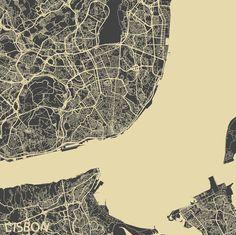 Europe - Maps on Behance - Lisbon Lisbon, Designer, Maps, City Photo, Behance, Europe, Illustrations, Portugal, Modern
