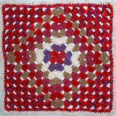 So Far, So Good: Granny On Point Square - free crochet pattern!