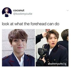 I wish my forehead can do that