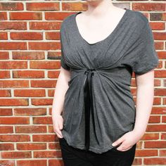 Upcycle a too-big t-shirt