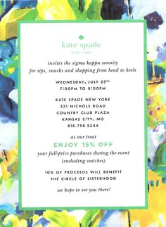Sigma Kappa at the University of Kansas: Circle of Sisterhood Fundraiser!