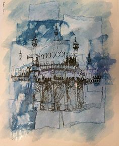Architecture Artists, Architecture Tattoo, Architecture Sketchbook, Textiles Sketchbook, Gcse Art Sketchbook, Sketching, A Level Textiles, Machine Embroidery Projects, Thread Painting