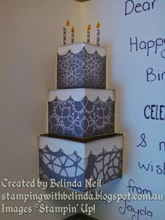 Stampin' it up with Belinda: Pop-up Cake Card