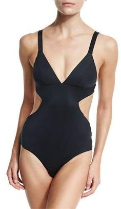 bb06ce780b Vitamin A Ava Solid Triangle Monokini, Black Black Monokini, 1 Piece  Swimsuit, Monokini