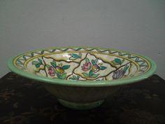 Crown Ducal Charlotte Rhead bowl pattern 6016 Trellis shaped number 164
