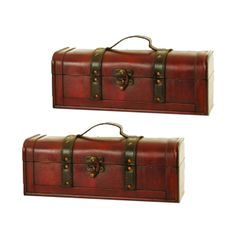 Long Wood Decorative Trunk