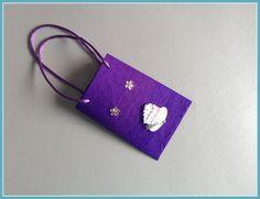 Mini-Geschenktüte lila von Smaragddrache auf DaWanda.com
