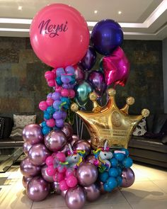 Balloon Crafts, Birthday Balloon Decorations, Balloon Gift, Birthday Balloons, Birthday Parties, Sweet 16 Decorations, Paper Decorations, Balloon Columns, Balloon Arch