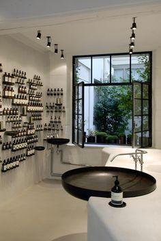 Aesop Store in Le Marais, Paris | Remodelista round sink