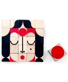 Miller Goodman Mini FaceMaker: 25 Mini Cubi in Legno - DI NUOVO DISPONIBILE! - per stimola la creatività (portatile e creativo!)
