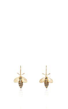 Bee earrings by ANNETTE FERDINANDSEN for Preorder on Moda Operandi