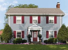 Check out the room I've designed with the Dutch Boy color visualizer. Tiny House Exterior, Exterior Siding, Exterior Paint, Exterior Design, House Exteriors, Compare And Contrast, Dutch, Shed, Outdoor Structures
