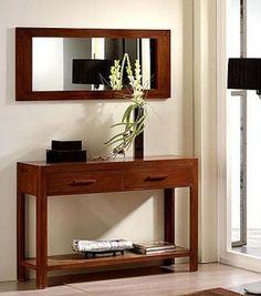 Consola y espejo