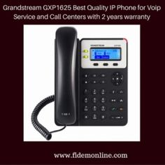Grandstream GXP1625 Best Quality IP Phone for Voip Service and Call Centers with 2 years warranty by www.fidemonline.com