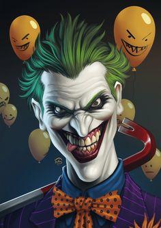 Joker by TovMauzer by batman_villains Le Joker Batman, Harley Quinn Et Le Joker, Der Joker, Joker Dc Comics, Joker Art, Bd Comics, Joker Comic, Comic Art, Photos Joker