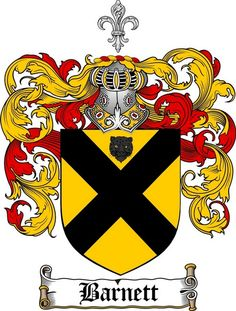 barnett family crest barnett coat of arms gifts available at WWW.4CRESTS.COM…