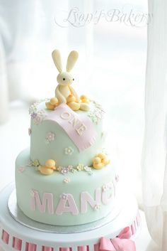 Bunny Cake - I think this is what we want for Maya's birthday - in lavender.