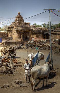 Aihole town centre, Karnataka, India.