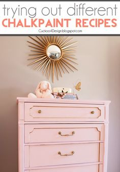 I'm really liking the pink.  Maybe for the nursery... calcium carbonate chalk paintDIY chalkpaint recipes