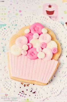 "So cute. Would be great for a ""Cute as a button"" baby shower."