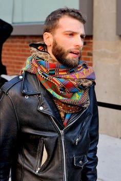 Street style , biker jacket